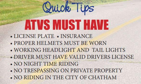 ATV quick tips