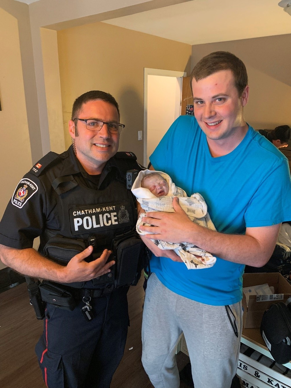 PC Oriet and baby